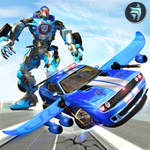 US Police Flying Robot Car : Flying Car Games 1.1