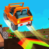 Blocky Car Stunts : Impossible Tracks 1.2