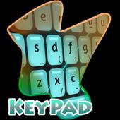 Blue Scene Keypad Cover 2.3