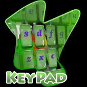Graffiti Keypad Cover 2.3 Bright Lime