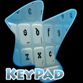 Steel Blue Keypad Cover 2.4 Sea