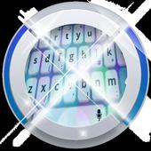 Aquamarine blue Keypad Art 1.3