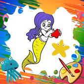 Mini Mermaid Coloring Pages 4.0