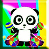 Panda Eating Candy - HD