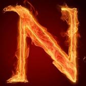 Fiery letter N live wallpaper 2.0