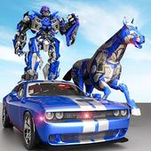 US Police Transform Robot Car Cop Wild Horse Games 1.6
