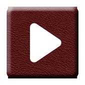 Poweramp Skin Red Dark Leather 1.0