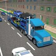 3D Car transport trailer truck 2.4