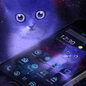 Neon Violet Cat Theme 1.1.2