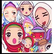Stiker WA Muslimah indonesia Karakter lucu 2020 1.0
