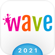 Wave Keyboard Background - Animations, Emojis, GIF 1.63.2