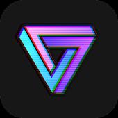 Vaporwave profile. Vaporcam glitch aesthetic photo