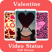 Valentine Full Screen Video Status - Lyrical Video 1.0