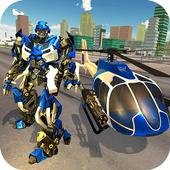 Miami Police Helicopter Transform Robot Wars Game 1.0.4