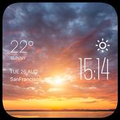 Sunset Cloudsweather widget 2.0_release