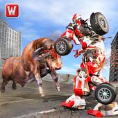 Super X Robot VS Angry Bull Attack Simulator 1.1