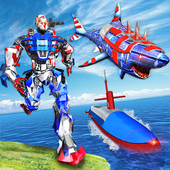 US Army Robot Shark Submarine Transform Robot Game 1.4