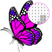 Butterfly Color By Number - Pixel Art 2.0