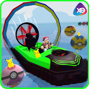 Superheroes Airboat Waterslide Stunts 1.0