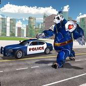 Panda robot simulator - police cop robot 1.2