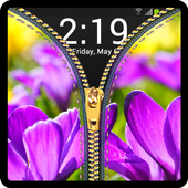 Zipper Lock Screen Flower 0.0.4