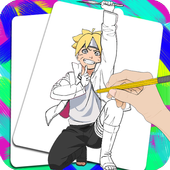 How To Draw Boruto - Step by Step 2.66.108