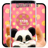 cute panda pink flower theme 1.1.2
