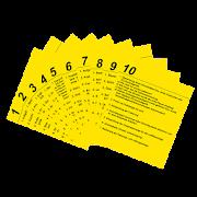 Abfahrtskontrolle Karten 1-10 1.9