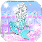 Glitter Mermaid Theme Keyboard 10001002