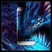 Neon Blue Dragon Theme