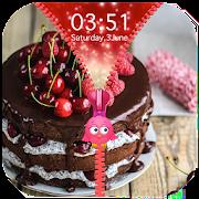 Cake Zipper Lock Screen 1.1