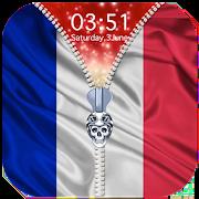 France Flag Zipper Lock Screen 1.1