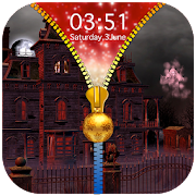 Haunted House Zipper Lock Screen 1.1