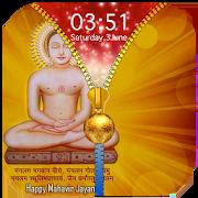Mahavir Jayanti Zipper Lock Screen 1.1