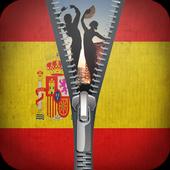 Spain Flag zipper screen lock 1.2