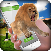 Lion On Screen Scary Joke