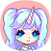 Girls Color By Number, Girls Pixel art 1.1