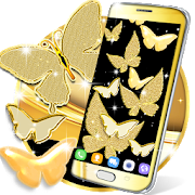 Gold butterfly live wallpaper 100