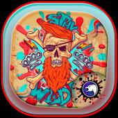Graffiti Skull Street Pirate Theme