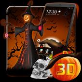 3D Halloween Pumpkin Night Theme 1.1.4
