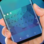 Classic Blue Keyboard Theme for Huawei Mate