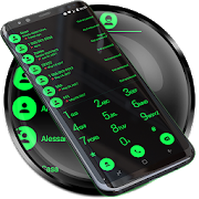 Theme for RocketDial and ExDialer Flat BGreen 21.0