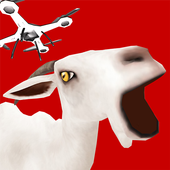 Drone with Goat Simulator