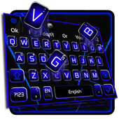keyboard.theme.black.blue.simple.business icon