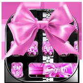Black Pink Bowknot Keyboard 10001003