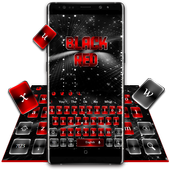 Black Red Keyboard 10001002