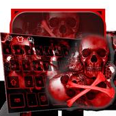Blood skull 3D keyboard 10001004