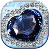 Blue Heart Diamond Keyboard 10001002
