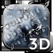 Broken Glass Parallax Keyboard Theme 10001005