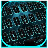 Classic Blue Neon Keyboard 10001002